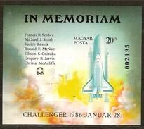 Hongrie Ungarn Hongarije 1986 Yvertn° Bloc 184 ND Ongetand Non Dentelé *** MNH Cote 30 Euro Challenger - Hojas Bloque
