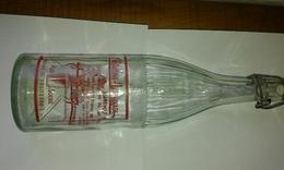 Bouteille 1l En Verre De Limonade Serigraphiée CRISTALINE LIMONADE - Soda