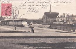 Carte Postale Ancienne De L'Yonne - Sens - Le Port, Le Pont Et L'Eglise Saint Maurice - Vers 1900 - Sens