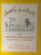 3444 - Château Jean Faure 1978 Saint-Emilion Spécimen - Bordeaux