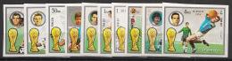 Fujeira - 1972 - N°Mi. 1391B à 1400B - Football WM 74 - Non Dentelé / Imperf. - Neuf Luxe ** / MNH / Postfrisch - Fujeira