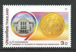 Thailand 2002 The 90th Anniversary Of The Ministry Of Transport And Communications.MNH - Thaïlande