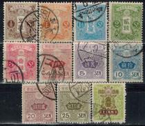 JAPAN 1914 - MiNr: 110-122 M.Wz Lot 11 Verschiedene   Used - Gebraucht