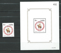 Thailand 2002 Songkran Day 2002 (Thai New Year's Day).horses.Chinese Horoscope.animals.S/S And Stamp.MNH - Thaïlande