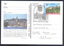 Austria 1995 Postal Stationery: Gmunden Coat Of Arms Fisch; Trilaterale Architecture Castle Schloss, Church Kirche - Castles