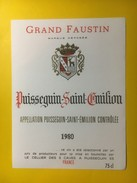 3466 -   Grand Faustin 1980 Puisseguin Saint-Emilion - Bordeaux