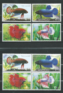 Thailand 2002 Fighting Fish - Betta Imbellis.S/S And Stamps.MNH - Thaïlande