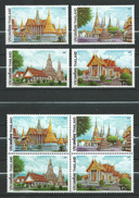 Thailand 2002 Thai Temples.Architecture.Buildings.stamps And Bl.stamps.MNH - Thaïlande