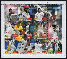 B5290 SAO TOME E PRINCIPE 2004, Cricket Cancelled Sheet - Sao Tome And Principe