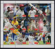 B5291 SAO TOME E PRINCIPE 2004, Cricket Cancelled Sheet - Sao Tome And Principe