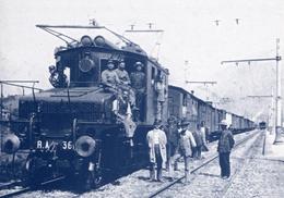 Ganz Electric (3 Phase) Locomotive  -  Engineered By Kando Kalman  -  CPM - Treni