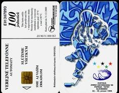 009-SLOVAKIA Telephone Card-chip World Winter Universiade Hockey Poprad Tatry 150.000 Pcs 100 Units (A106) 1998 - Sport