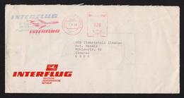 DDR Dienstbrief AFS - 20 Pfg Interflug FLUGHAFEN BERLIN SCHÖNEFELD 5.9.89 - Marcofilie - EMA (Print Machine)