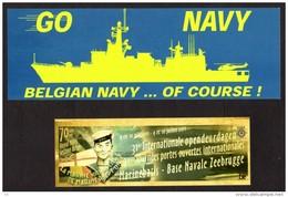 MARINE - BELGIAN NAVY - ZEEMACHT - FORCE NAVALE - 4 Autocollants - 4 Stickers - Stickers