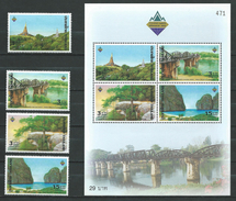 Thailand 2003 World Philatelic Exhibition BANGKOK 2003,S/S And Stamps.bridges,MNH - Thaïlande