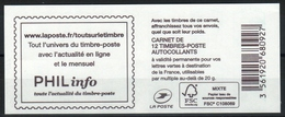 """CARNET 1215-C.. / 12 MARIANNE CIAPPA TVP VERT SANS GRAMMAGE / COUVERTURE """" PHILinfo """" NEUF - Usage Courant"""