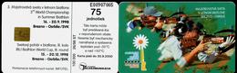 014-SLOVAKIA Telephone Card-chip 3rd World Championship In Summer Biathlon 100.000 Pcs 75 Units (A104) 1998 - Sport