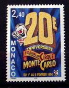 MONACO #1987. 20th International Circus Festival.  MNH (**) - Monaco