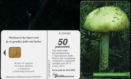 027-SLOVAKIA Telephone Card-chip Mushrooms III.-Panther Cap 100.000 Pcs 50 Units (A87) 1998 - Fleurs