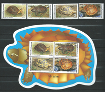 Thailand 2004 Tortoises.Fauna.Reptiles.Turtles.S/S And Stamps.MNH - Thaïlande