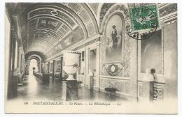 C.P.A. (77)   Fontainebleau - Le Palais . - La Bibliotèque 1912 Voir Les 2 Photos - Fontainebleau
