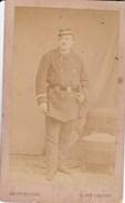 PARIS Photo CDV Un Militaire Soldat Par L'atelier PHOTOGRAPHIE MODELE, 15 Rue Drouot Années 1870 - Photos