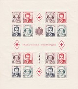 MONACO - Bloc CROIX-ROUGE Monégasque 1951 - Yvert 4A** MNH - Cote 570€ - Blocks & Sheetlets