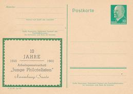 DDR  - 1961/66 , Arbeitsgemeinschaft Junge Philatelisten Naumburg / Saale  -   Post Card - [6] República Democrática