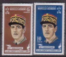 Nouvelles Hebrides, 1970, De Gaulle, MNH, Michel 293-294 - New Hebrides - Unclassified