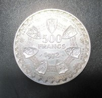 ÉTATS DE L'AFRIQUE DE L'OUEST (BCEAO) 500 Francs 1972, Masque Argent, Paris, SUP - Monnaies
