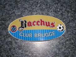 FOOTBALL CLUB DE BRUGGE Autocollant Sticker Sponsor Bière Bacchus Vanhonsebrouck Foot Bruges 1 ère Division Belgique - Fussball