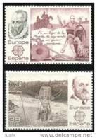 España 1983 Edifil 2703/4 Sellos ** Europa CEPT Miguel De Cervantes El Quijote De La Mancha Y Leonardo Torres Quevedo - 1931-Aujourd'hui: II. République - ....Juan Carlos I