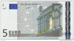 VF NOTA DE 5 EUROS DA FRANÇA L010 E2 UNC RARA ASSINATURA W.D. UNC - EURO