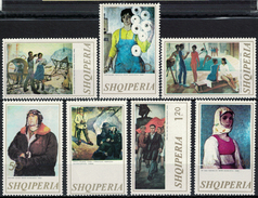 Albania 1973 _ Figurative Arts, National Paintings - Full Set MNH** - Albania