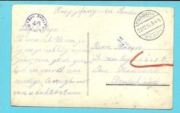 Kriegsgefangenensendung Met Duitse Brugstempel TONGEREN Naar SOLTAU , Stempel GEPRUFT