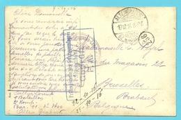 Kriegsgefangenensendung / Fotokaart Met Stempel ALTENGRABOW Op 19/10/16 Naar Bruxelles, Stempel GEPRUFT