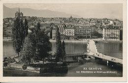 Switzerland Postcard Geneve Ile Rousseau Et Pont Des Bergues Sent To Germany Geneve 15-6-1931 - GE Geneva