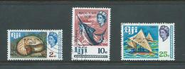 Fiji 1970 QEII Royal Visit Overprint Set 3 FU - Fiji (1970-...)