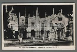 U7039 OXFORD ST. JOHN QUADRANGLE MAGDALEN COLLEGE VG FP (m) - Oxford