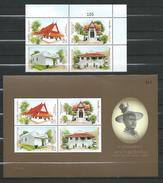 Thailand 2006 Phra Racha Wang Derm - Thonburi Palace.Architecture/Buildings.S/S And Stamps.MNH - Thaïlande