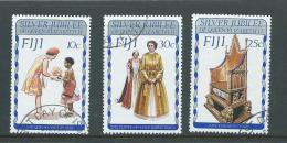 Fiji 1977 QEII Silver Jubilee & Royal Visit Set 3 FU - Fiji (1970-...)