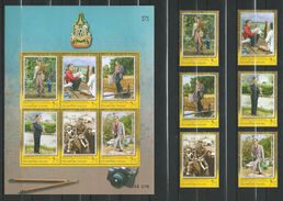 Thailand 2006 The 60th Anniversary Celebrations Of His Majesty's Accession To The Throne - 3rd Series.S/S And Stamps.MNH - Thaïlande
