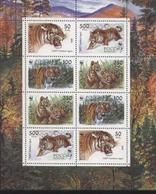 WWF  RUSSIA  Siberian Tiger Sheetlet With 2 Sets MNH - Raubkatzen
