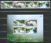 Thailand 2007 Waterfalls.S/S And Stamps.MNH - Thaïlande