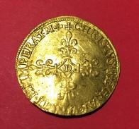 Charles IX, Écu D'or Au Soleil, , 1562 D, Lyon - 1560-1574 Charles IX.