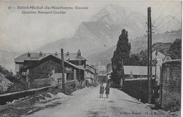 SAINT-MICHEL-DE-MAURIENNE → Quartier Bernard-Gontier Avec Les Enfants Dans La Rue 1925 - Saint Michel De Maurienne