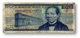 MEXICO - 50 PESOS - 1978 - Pick 67.a- Serie GH - México