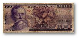 MEXICO - 100 PESOS - 1979 - Pick 68.c - Serie LX - Mexico