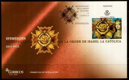 2016 SPAIN ESPAGNE ESPAÑA FDC  ORDEN ISABEL LA CATOLICA Order Of Isabella The Catholic - FDC