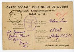 PRISONNIER GUERRE CPFM UN DES PREMIER MODELE 1940 NEOULES VAR => STALAG VI A HEMER ISERLOHN (MUNSTER) ALLEMAGNE - 1921-1960: Moderne